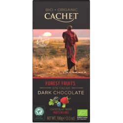 tableta cachet chocolate orgánico 56% cacao frutos de bosque